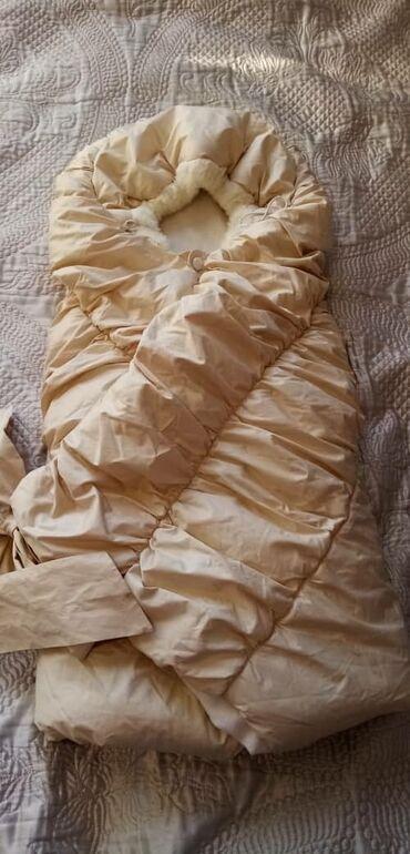 для новорожденных в Кыргызстан: Конверт для новорожденных очень теплая внутри флисовая покупали в
