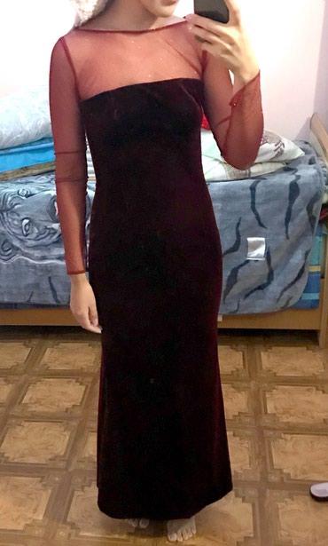 платье бархатное в Кыргызстан: Продается бархатное вечернее платье, сшито на заказ, одевали один раз