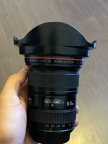 Obyektivlər və filtrləri Azərbaycanda: Canon 16-35mm f/2.8 II USM lens satilir.  ishlemeyinde hech bir probl