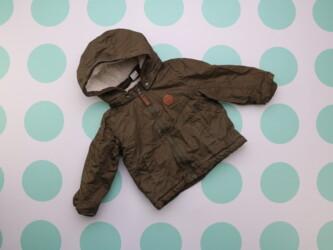 Детская куртка с утеплением и капюшоном H&M, 12-18 мес.    Длина