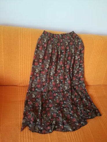 Prelepa suknja duža za leto vel 42, indijsko platno, ima lastrež, obim