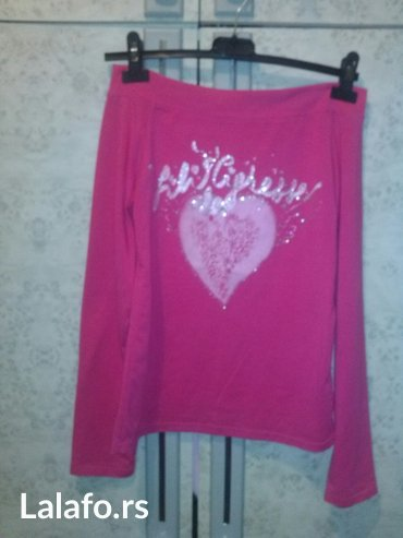 Pink bluza sa golim ramenima - Kovin