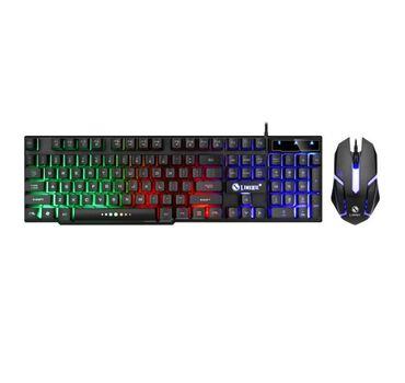 Цветная клавиатура(Новинка)Limei GTX300 Проводная клавиатура и мышь с