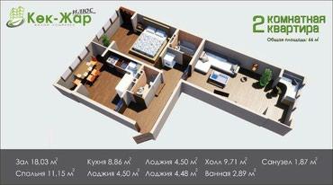 Продаю 2 комнатную квариру,в новом строящемся доме!!! в Бишкек