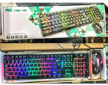 yemek desti - Azərbaycan: CMK188 model oyun ucun işiqli klaviatura ve sican desti.( gamer gaming