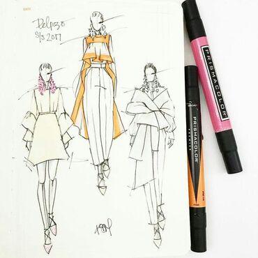 Обучение лекала - Кыргызстан: Курс по дизайн одежды. Фешн иллюстрации. Учим рисовать модели и