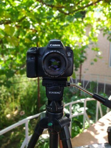 удобный фотоаппарат в Кыргызстан: Canon 6d объектив 50mm 1.4Штатив, сумка, карта 64гб, фильтр для