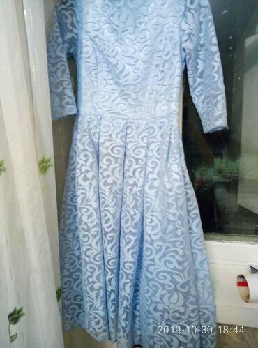 Продаю подростковое платье голубого цвета за 350 сом. Звонить по телеф