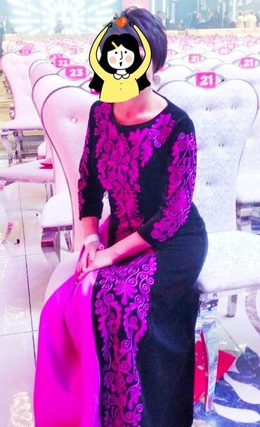 Этно-платье, ручная работа, индивидуальный пошив, 46 размер, 1 раз