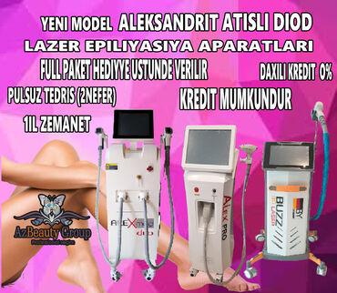Aleksandrit lazer aparati satilir - Азербайджан: Istenilen nov,her cur cesidde size munasib qiymete, serfeli kredit