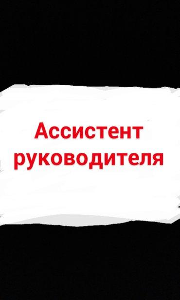 В ЧП Кулбаевой требуется ассистент руководителя в отдел кадра (можно б в Бишкек