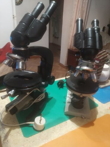 Лабо цена - Кыргызстан: Продаю 2 бинокулярных,лабораторных микроскопа. советского