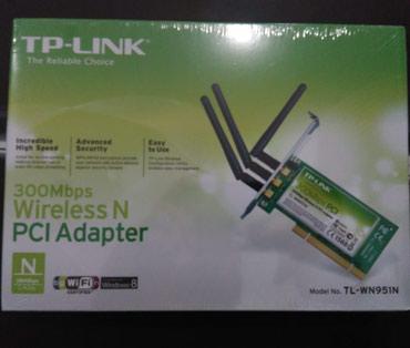 cib-ucun-wifi - Azərbaycan: PCI wifi adaptor 3 antenali. Stolustu komputer ucun daxili, PCI wifi