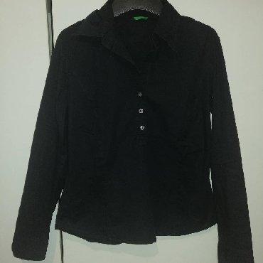 Kosulja-broj-crna - Srbija: Benetton kosulja, nova, teget boje, vise izgleda kao crna