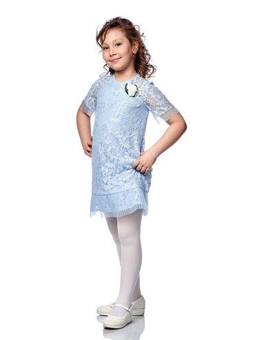 трикотаж платья в Кыргызстан: Нарядное платье для девочки Артикул: АгатаРазмеры: 116, 122, 128