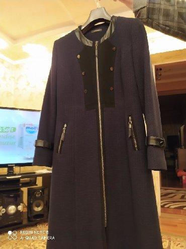 Продаю турецкое пальто. С кожаными вставками. 52 размер. Цвет темно