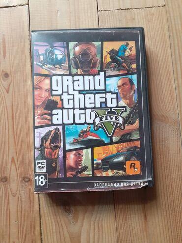 Gta 5 oyun diski,bele ucuz qiymete gta 5 yoxdu PC üçündü,içinde 8 dene