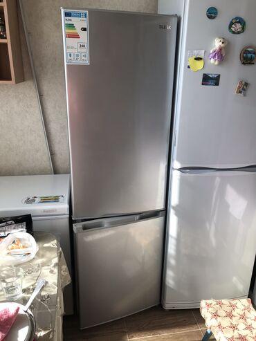 морозильники в бишкеке в Кыргызстан: Б/у Двухкамерный   Серебристый холодильник