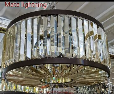 Хрустальная шикарная люстра на 12 лампочек диаметр 60 см качество