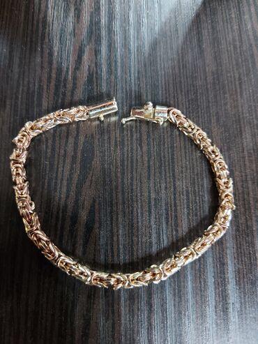 Золотой браслет!Королевское плетение!Золото 585 пробы!Сделано на