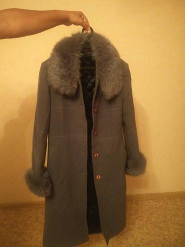 Продаю пальто женское с меховым в Бишкек