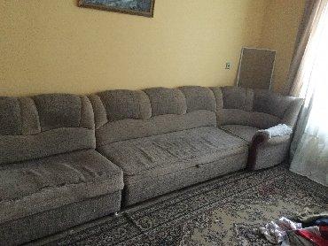 уголок диван трансформер в Кыргызстан: Диван уголок + 1 кресло прошу 12 000 сом б/у