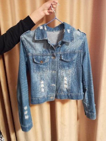 детская джинсовая куртка в Кыргызстан: Джинсовая куртка размер M (44) состояние отличное