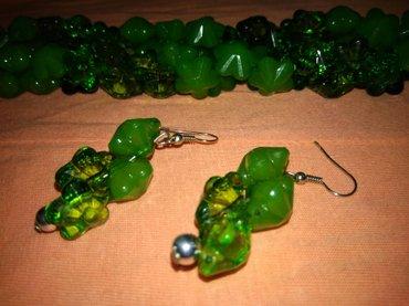 Бусы,  ожерелье,  комплект зеленых бус в Бишкек