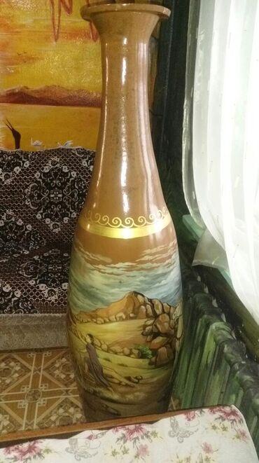 Искусство и коллекционирование - Беловодское: Кувшин ручной работы керамический высота 180 см картину рисовал