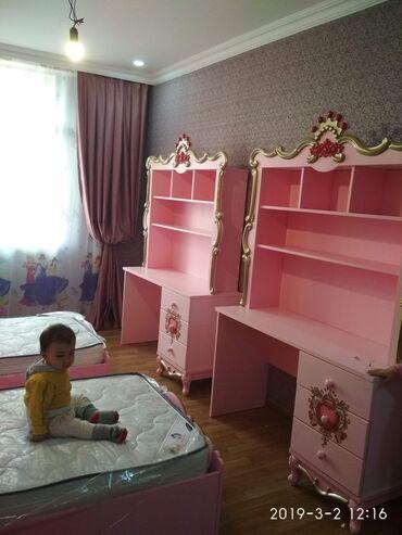 железная мебель в Азербайджан: Salam.PRANSES uşaq mebel dəsti.Dəstden elave olaraq 1 carpayi ve 1