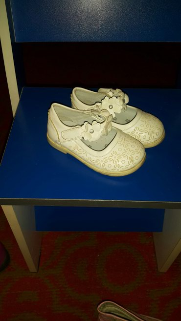 Туфли фирмы Цветочек,белые размер 22 в Бишкек