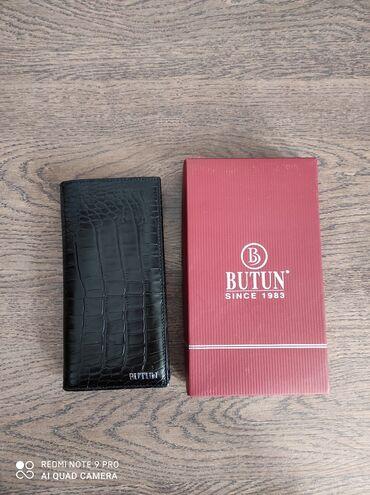 Кожаный мужской кошелек (вертикальное портмоне). Оригинал ButunЦена