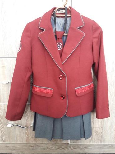 Школьная форма - Кыргызстан: Продаётся школьная форма на девочку в отличном состочнии 34 р, рост