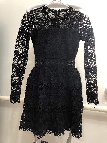 вечернее платье короткие в Кыргызстан: Чёрное короткое платье вечернее, приталенное размер s, m с
