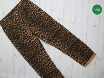 Женские штаны в леопардовый принт Zara, р. S    Длина штанины: 90 см Ш