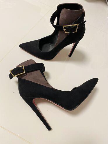 Carape sa prstima - Srbija: KAO NOVE cipele Italijanske, dva puta obuvene - poklon pantalone uz
