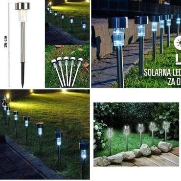 Lampe - Srbija: 1.150din 5kom2.700din 15komSolarna lampa Ø6xV37 Materijal: Nerđajući