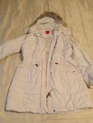 женский пуховик с капюшоном в Кыргызстан: Женская куртка пуховик размер 46-48 б/у капюшон съёмный
