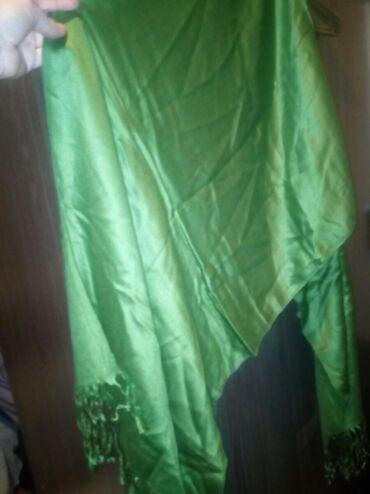 Шарф на осень Иран привезли Адам 100сом новый цвет зелёный
