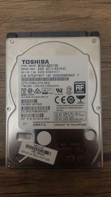 hard disc - Azərbaycan: Toshiba hard disk notebook üçün problemsiz