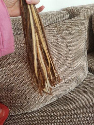 Potpuno prirodna oshishana kosa za nadogradnju.. Nosena kratko,zdrava  - Beograd