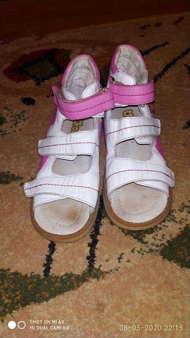 Сандалики для девочки,бело-розовые, размер 29, кожаные