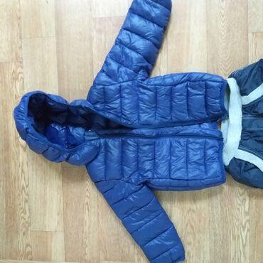 Продается зимняя детская куртка за 500с и зимние балоневые штаны за