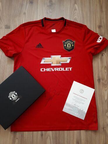 Manchester united kacket - Srbija: Original dres Manchester United, sa potpisom. Hologram. Sertifikat da