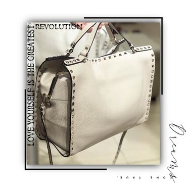 Женские сумкиженская сумка .New кожаная белая сумка Valentino WhatsA
