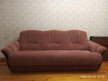 Диваны в Кыргызстан: Продаю комплект 2 дивана и кресло. Трёхместный диван (раскладывается м