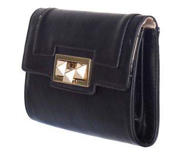 Сумка Клатч кожаная черного цвета,новая про-ва Италия. можно носить