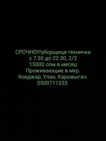 удаленная работа на дому через интернет в Кыргызстан: Техничка. Офис. 2/2. Мкр. Улан
