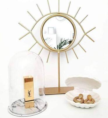 Ogledalo Š21xV25cm sa pos. zlatna cena; 1400 din