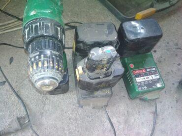 Дрели в Кыргызстан: Шуруповёрт все работает батареи не рабочие два зарядных устройства
